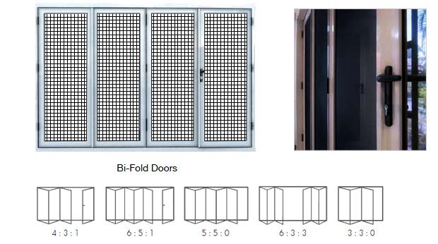 Bi fold doors security doors and security windows for Bi fold screen doors